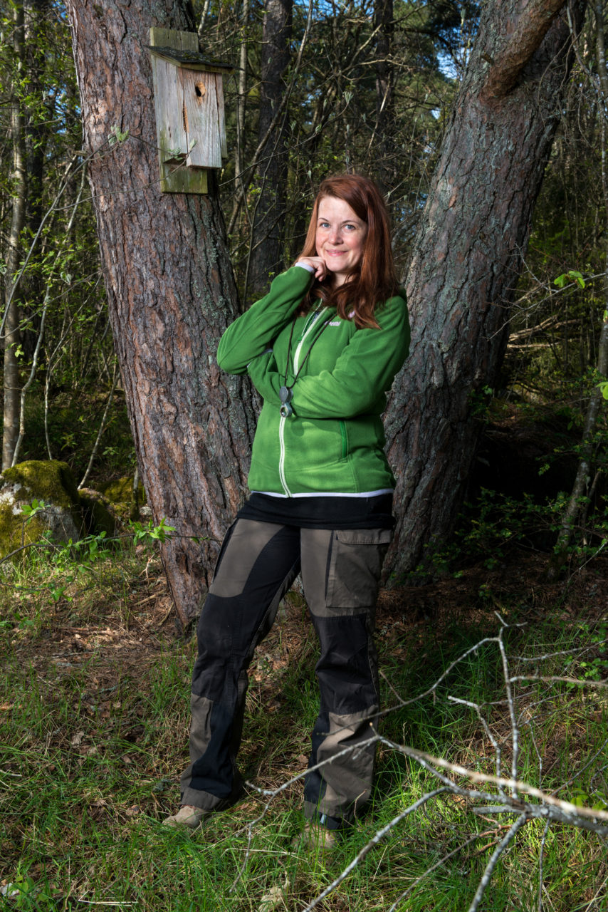 Mari Jönsson, forskningsaasistent, Artdatabanken, SLU, Uppsala. Foto: Johan Lindstén