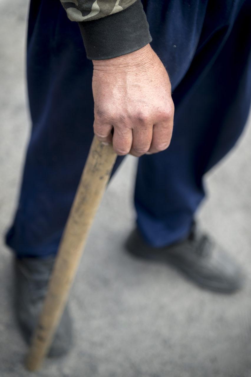 Ukraina, Kiev/Kyiv. På bilden: En av de män som slogs mot den paramilitära polisen Berkut på Frihets-torget, Majdan, i centrala Kiev under 2014/2015. Foto: Johan Lindstén