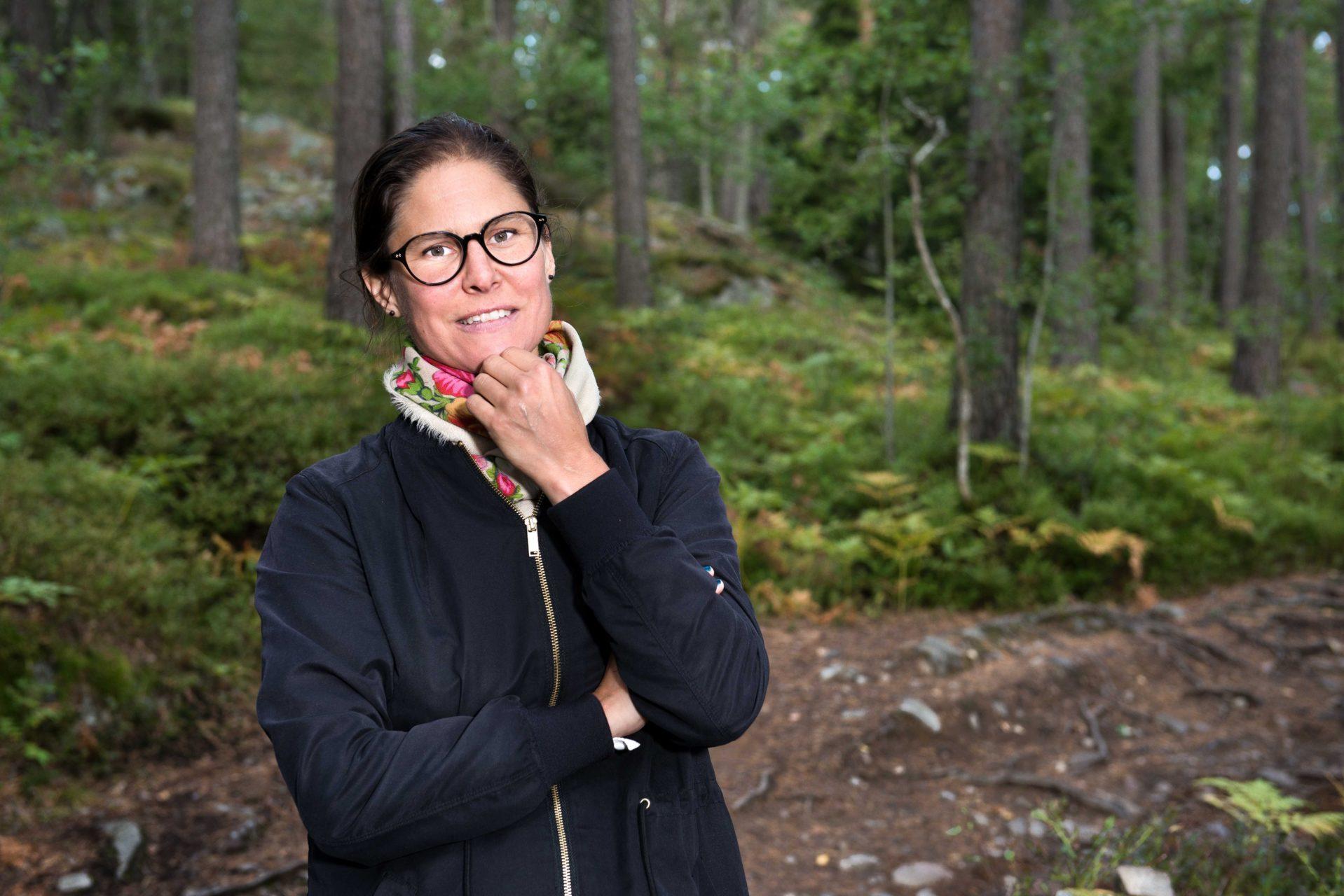 Johanna Sandahl är Naturskyddsföreningens ordförande. Jag fotograferade henne på uppdrag av Skogsstyrelsens tidning SkogsEko #3 2017.-TIFF-0366